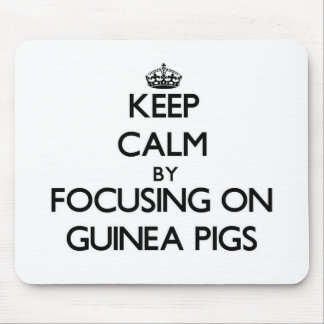 Keep Calm by focusing on Guinea Pigs Mousepad