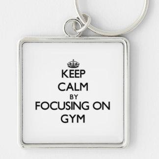 Keep Calm by focusing on Gym Key Chains
