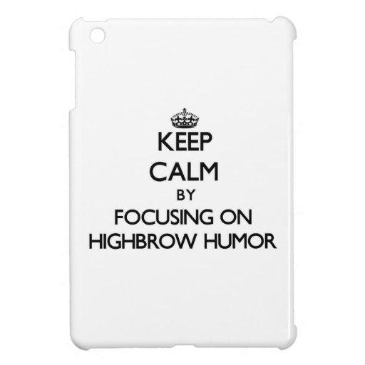 Keep Calm by focusing on Highbrow Humor iPad Mini Cases