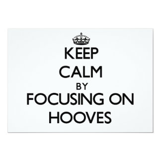 Keep Calm by focusing on Hooves Announcement