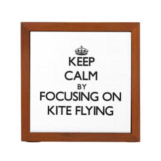 Keep Calm by focusing on Kite Flying Desk Organiser