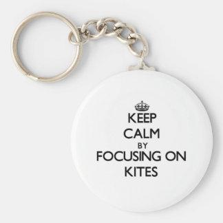 Keep Calm by focusing on Kites Key Chain