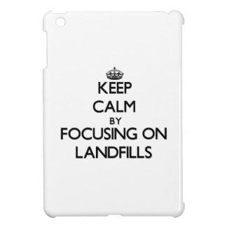 Keep Calm by focusing on Landfills iPad Mini Cover