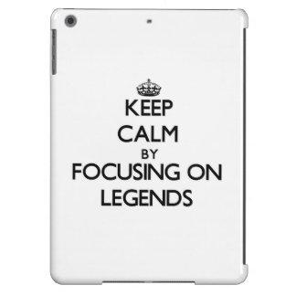 Keep Calm by focusing on Legends iPad Air Case