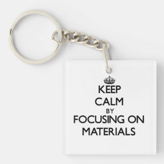 Keep calm by focusing on Materials Acrylic Keychain