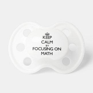 Keep calm by focusing on Math Pacifier