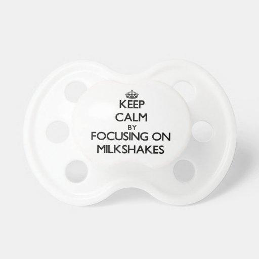 Keep Calm by focusing on Milkshakes Baby Pacifiers