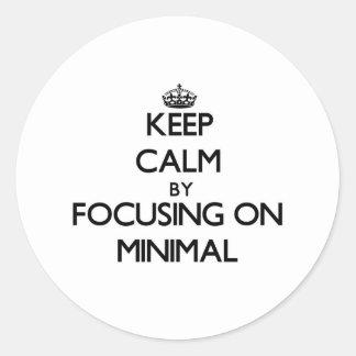 Keep Calm by focusing on Minimal Round Sticker