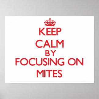 Keep calm by focusing on Mites Print