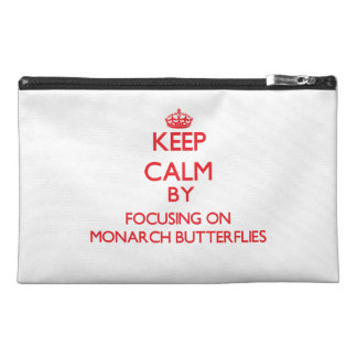 Keep calm by focusing on Monarch Butterflies Travel Accessory Bag