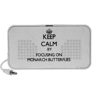 Keep Calm by focusing on Monarch Butterflies Mini Speakers