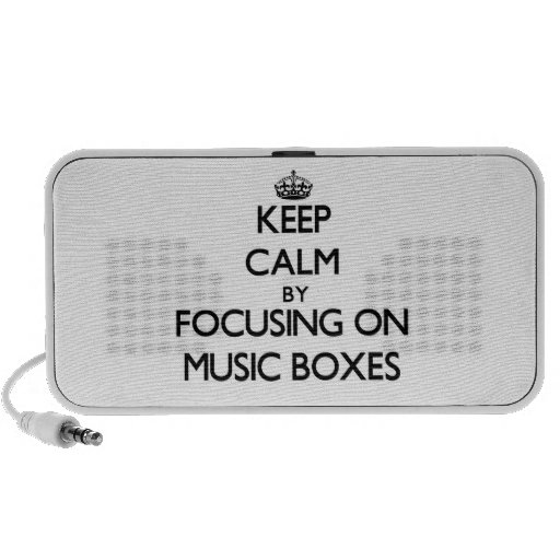 Keep Calm by focusing on Music Boxes iPhone Speaker