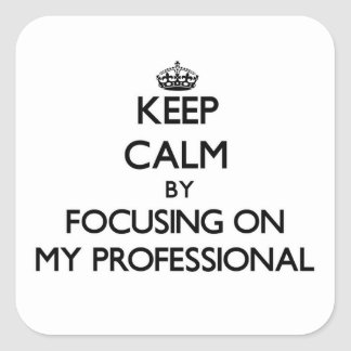 Keep Calm by focusing on My Professional Stickers