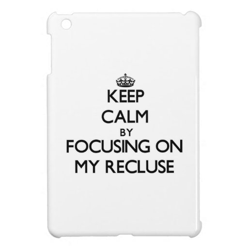 Keep Calm by focusing on My Recluse Case For The iPad Mini