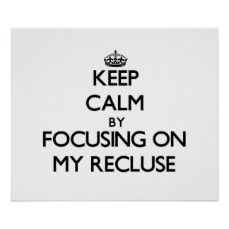 Keep Calm by focusing on My Recluse Print