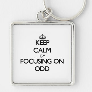 Keep Calm by focusing on Odd Key Chains