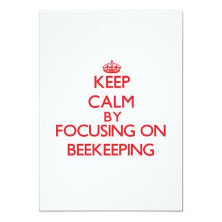 Keep calm by focusing on on Beekeeping Custom Invite