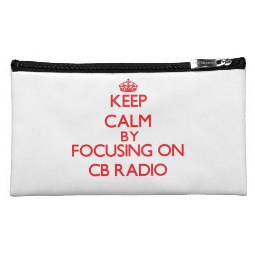 Keep calm by focusing on on Cb Radio Makeup Bag