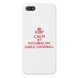 Keep calm by focusing on on Gaelic Handball iPhone 5 Cover