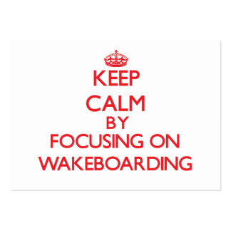 Keep calm by focusing on on Wakeboarding Business Card