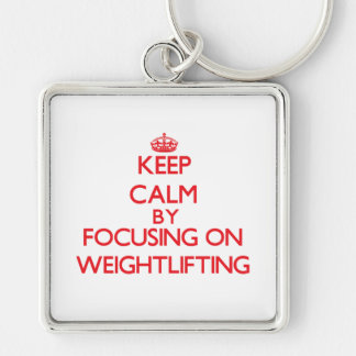 Keep calm by focusing on on Weightlifting Keychain