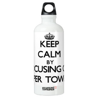 Keep Calm by focusing on Paper Towels SIGG Traveller 0.6L Water Bottle