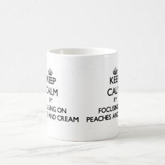 Keep Calm by focusing on Peaches And Cream Mug
