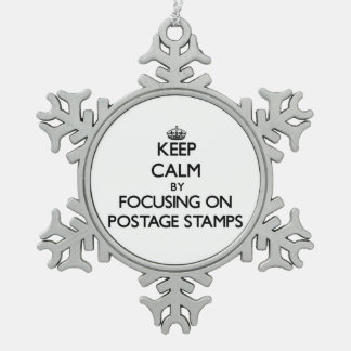 Keep Calm by focusing on Postage Stamps Ornaments