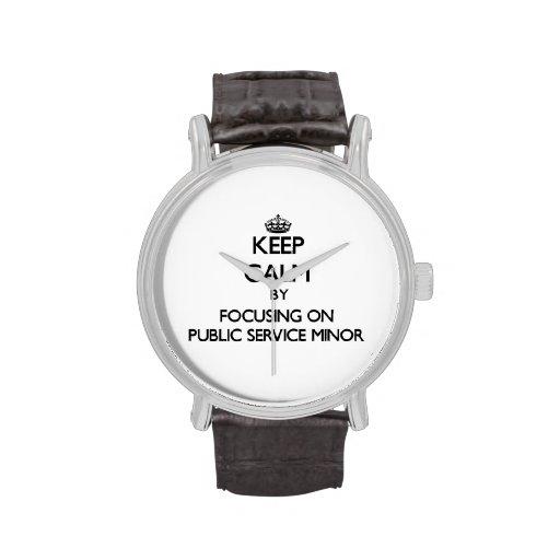 Keep calm by focusing on Public Service Minor Wrist Watch