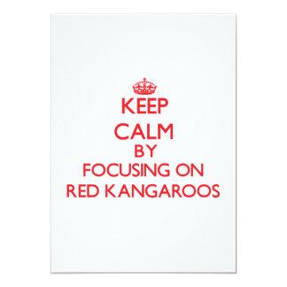 Keep calm by focusing on Red Kangaroos Custom Invite