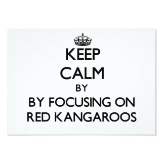 Keep calm by focusing on Red Kangaroos Card