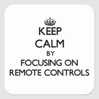 Keep Calm by focusing on Remote Controls Stickers