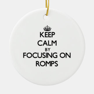 Keep Calm by focusing on Romps Christmas Tree Ornaments