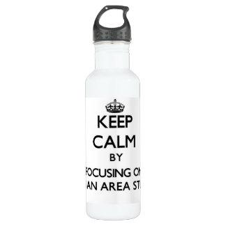 Keep calm by focusing on Russian Area Studies 710 Ml Water Bottle