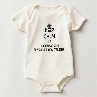 Keep calm by focusing on Russian Area Studies Baby Bodysuits