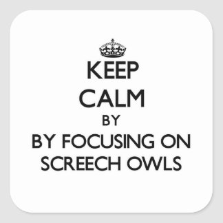 Keep calm by focusing on Screech Owls Stickers
