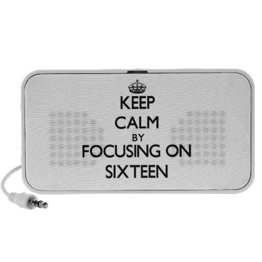 Keep Calm by focusing on Sixteen Speaker System