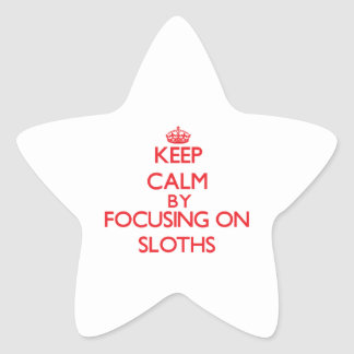 Keep calm by focusing on Sloths Star Sticker