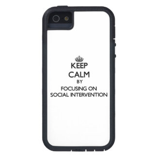 Keep calm by focusing on Social Intervention iPhone 5/5S Covers