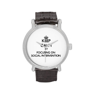 Keep calm by focusing on Social Intervention Wristwatch