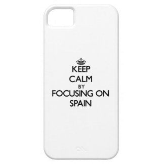 Keep Calm by focusing on Spain iPhone 5 Cover