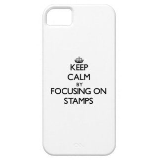 Keep Calm by focusing on Stamps iPhone 5/5S Case
