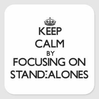 Keep Calm by focusing on Stand-Alones Square Sticker