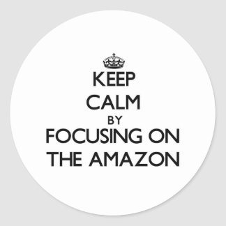 Keep Calm by focusing on The Amazon Sticker