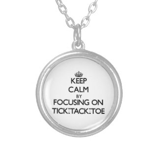 Keep Calm by focusing on Tick-Tack-Toe Pendants