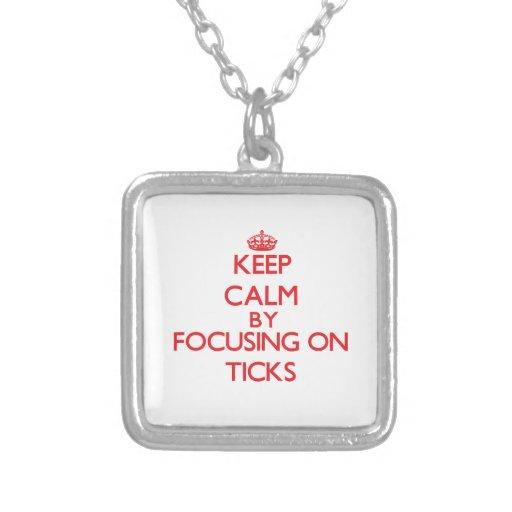 Keep calm by focusing on Ticks Custom Necklace