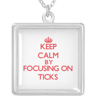 Keep calm by focusing on Ticks Necklaces
