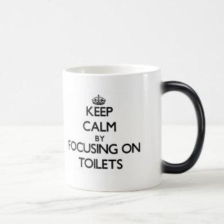 Keep Calm by focusing on Toilets Coffee Mug