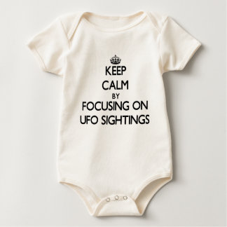Keep Calm by focusing on Ufo Sightings Bodysuit