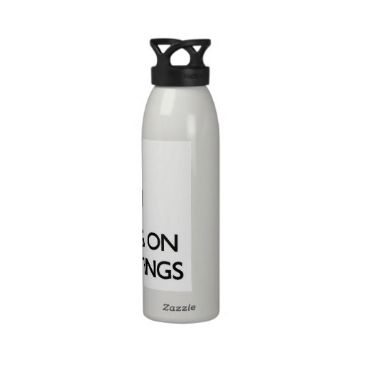 Keep Calm by focusing on Ufo Sightings Reusable Water Bottle
